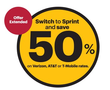 Switch to Sprint and Save 50 on Your Monthly Rates