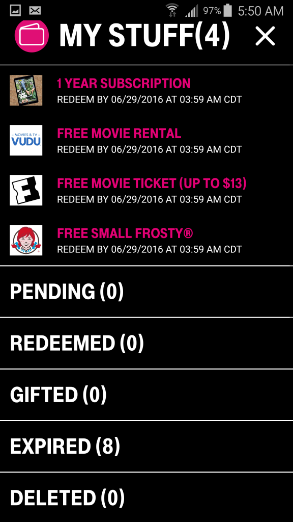 T-Mobile Tuesdays Freebies