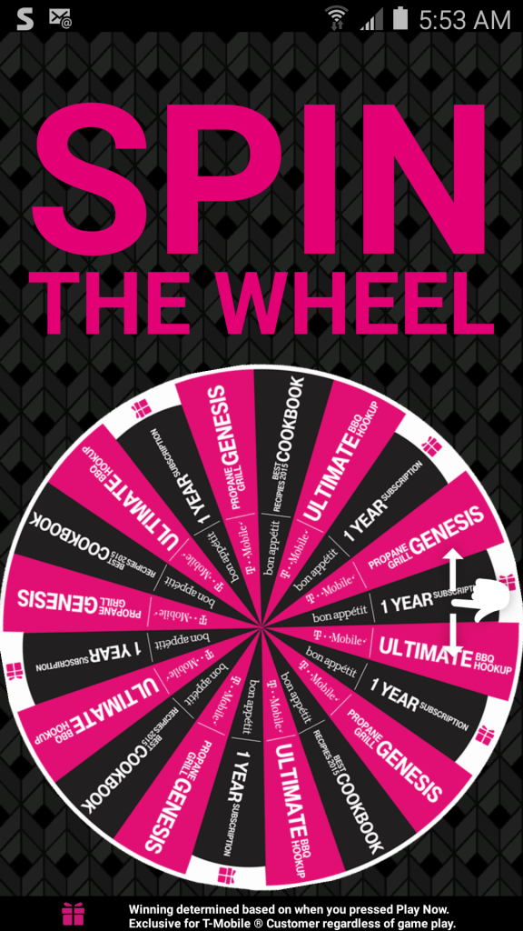 TMobile Tuesday Spin the Wheel