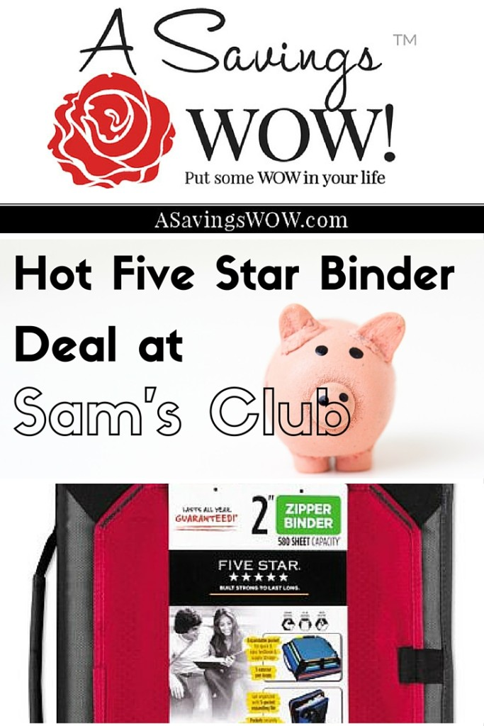 Binder Sam's Club Deal